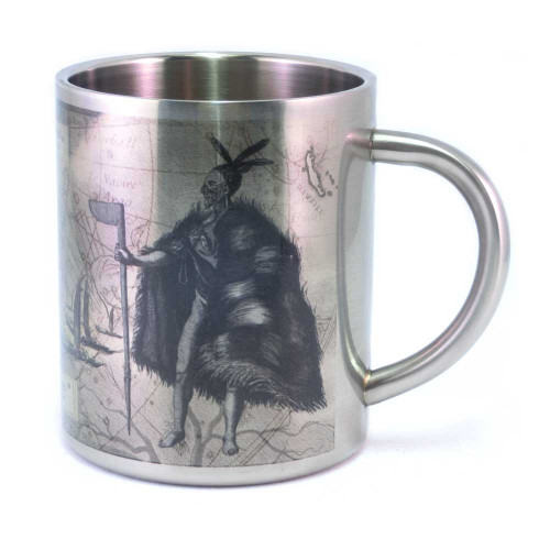 Mug: Journey of the Waka from Hawaiki to New Zealand (Stainless Steel Mug)