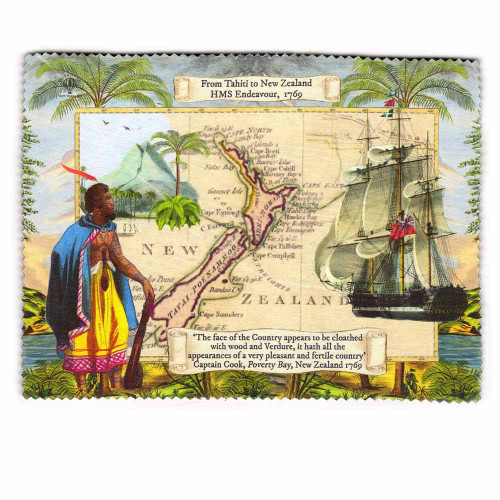 Lens and Screen Cleaning Cloth: From Tahiti to New Zealand. HMS Endeavour 1769