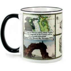 Mug: Captain Cook and The Transits of Mercury and Venus in 1769. (Coloured Rim & Handle)