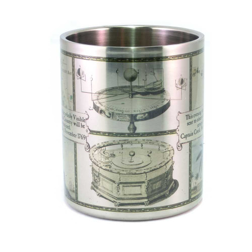 Mug: Captain Cook and The Transits of Mercury and Venus in 1769 (Stainless Steel Mug)