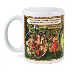 Mug: Inhabitants of the South Sea Islands: Marquesas Islands and Easter Island (White Mug)