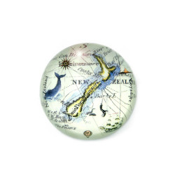 Paperweight: Antique Map Of New Zealand (Handmade)
