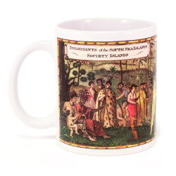 Mug: Inhabitants of the South Sea Islands: Society Islands (White Mug)