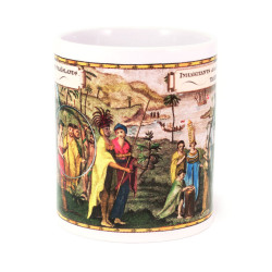 Mug: Inhabitants of the South Sea Islands: Tahiti (White Mug)